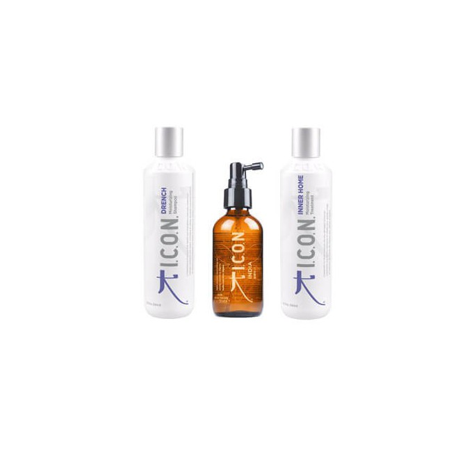 PACK ICON PLAYA: INDIA DRY OIL + DRENCH + INNER 250ml