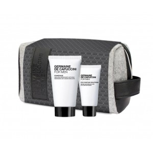 Neceser MEN Hombre Germaine de Capuccini Force + Gel Contorno de Ojos Eye