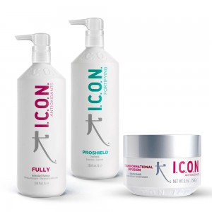 Pack ICON Proteinas: Champú Fully + Tratamiento Proshield + Mascarilla Infusion