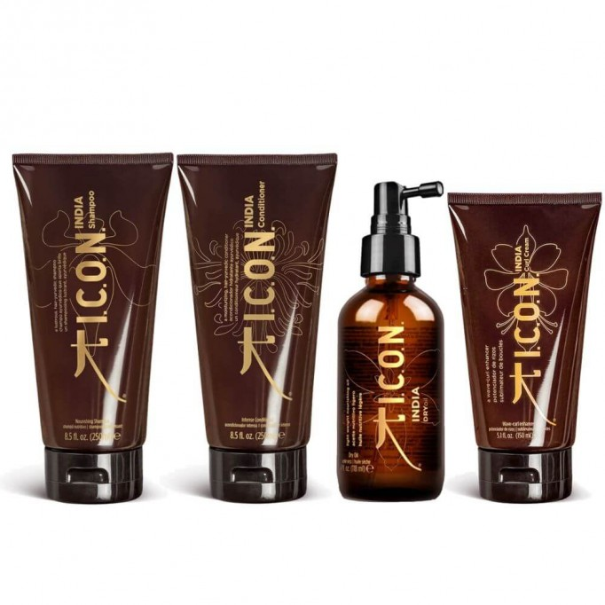 Pack ICON Curly India Pelo Rizado Completo Dry Oil