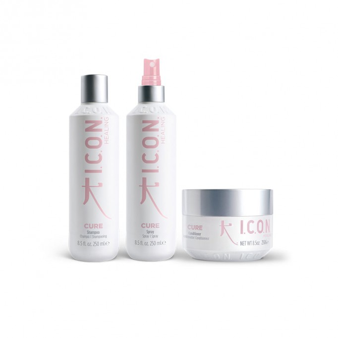 pack-icon-cure-champu-acondicionador-replenishing-spray