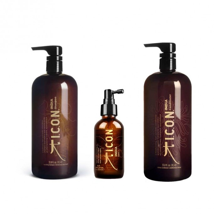 PACK ICON INDIA Dry Oil Champu y Acondicionador Litro