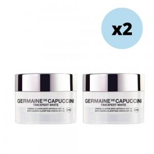 Pack 2 cremas Clarificantes Antiedad SPF15 Timexpert White - Germaine de Capuccini