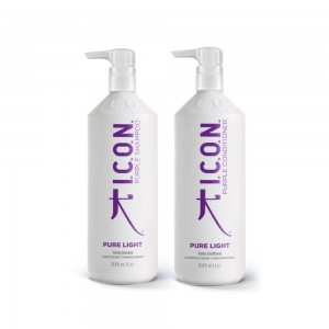 Pack ICON Pure light Champú Lila y Acondicionador LITROS
