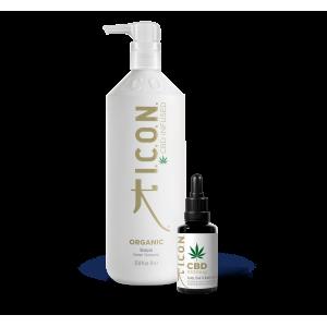 Pack ICON Organic champu litro + Aceite Puro Regenerador Organico