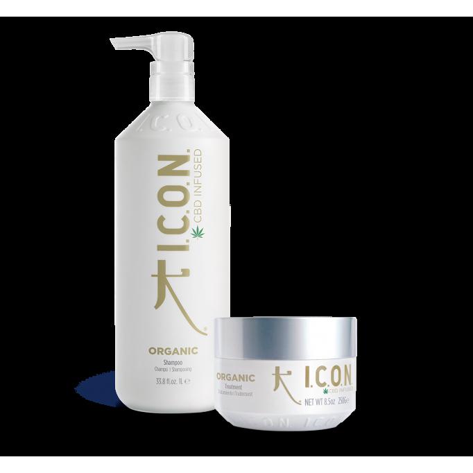Pack ICON ORGANIC champú litro + tratamiento infused