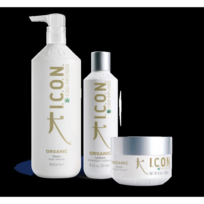 Pack ICON ORGANIC champú litro+ acondicionador 250+ infused
