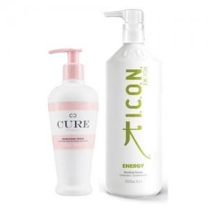 Pack ICON REBAJAS Energy champú litro + Double Body Serum
