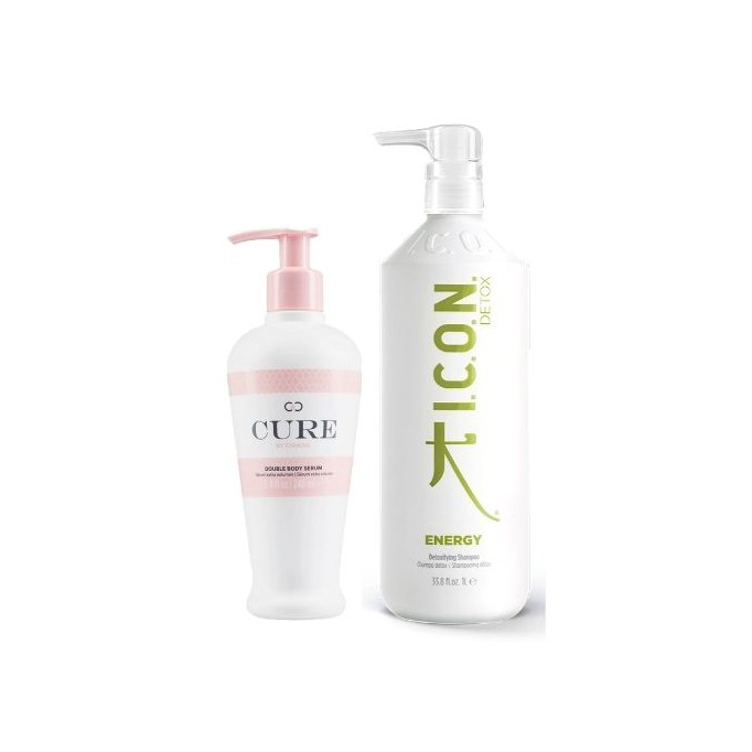 Pack ICON REBAJAS Energy champú litro + Double Body Serum