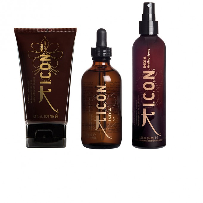 PACK ICON INDIA CURL CREAM + ACEITE + HEALING SPRAY