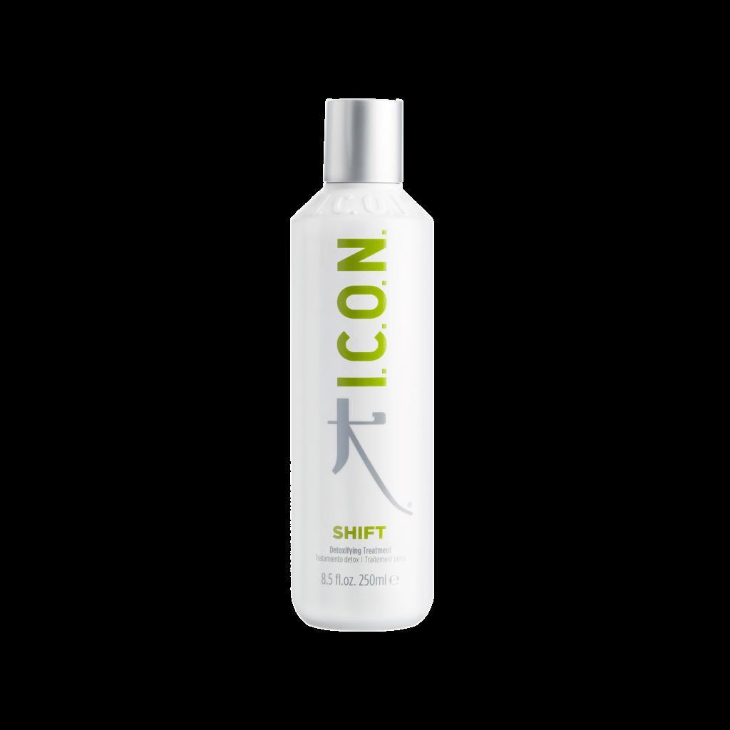 ICON SHIFT 250 ml Tratamiento desintoxicante que ayuda a combatir la grasa del pelo. También regula el exceso de cebo y potencia el riego sanguineo