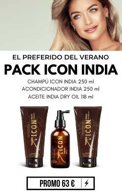PACK ICON INDIA DULCEIDA CHAMPU ACONDICIONADOR ACEITE ICON INDIA PELO MIPELAZO